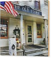 The Old Store Wood Print by Diana Angstadt