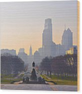 The Parkway In The Morning Wood Print by Bill Cannon