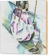 The Penalty Box Wood Print by Leslie Franklin