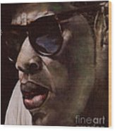 The Pied Piper Of Intrigue - Jay Z Wood Print by Reggie Duffie