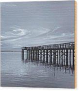 The Pier Wood Print by Kim Hojnacki