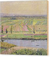 The Plain Of Gennevilliers From The Hills Of Argenteuil Wood Print by Gustave Caillebotte