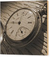 The Pocket Watch Wood Print by Mike McGlothlen