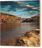 The Pool Below Upper Falls Rumford Maine Wood Print by Bob Orsillo