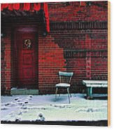 The Red Door Wood Print by Amy Cicconi