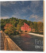 The Red Mill Wood Print by Paul Ward