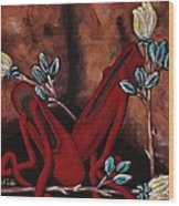 The Red Shoes Wood Print by Barbara St Jean