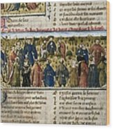 The Romance Of The Rose. S.xiv. Court Wood Print by Everett