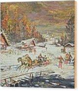 The Russian Winter Wood Print by Konstantin Korovin