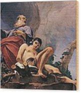 The Sacrifice Of Isaac Wood Print by Giovanni Battista Tiepolo