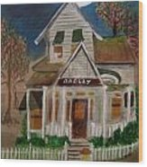 The Scary Neighbor Wood Print by Ann Whitfield