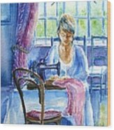 The Seamstress Wood Print by Trudi Doyle