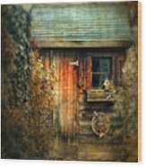 The Shed Wood Print by Jessica Jenney