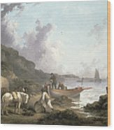 The Smugglers, 1792 Wood Print by George Morland