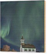 The Spirit Of Iceland Wood Print by Evelina Kremsdorf