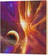 The Spirit Realm Of The Saphire Nebula Wood Print by James Christopher Hill
