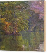 The Stars Give Way To The Sun Wood Print by J Larry Walker
