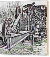 The Steam Shovel Wood Print by Glenn McCarthy Art and Photography