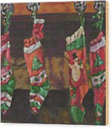 The Stockings Wood Print by Gloria  Nilsson