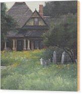 The Sullivan House Wood Print by Anna Rose Bain