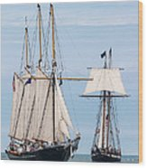 The Tall Ships Wood Print by Dale Kincaid