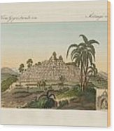 The Temple Of Buddha Of Borobudur In Java Wood Print by Splendid Art Prints