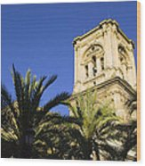 The Tower Of The Cathedral Of The Incarnation Wood Print by John Rocha