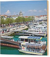 The Town And Port Of La Rochelle Wood Print by Nila Newsom