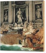 The Trevi Fountain Wood Print by Warren Home Decor