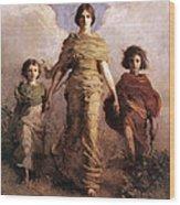 The Virgin Wood Print by Abbott Handerson Thayer
