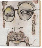 The Walrus As John Lennon Wood Print by Mark M  Mellon
