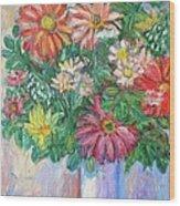 The White Vase Wood Print by Kendall Kessler