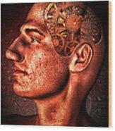 Thinking Man Wood Print by Bob Orsillo