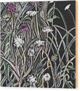Thistle And Queen Anne Wood Print by Grace Keown