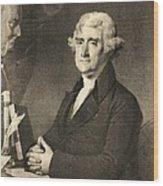 Thomas Jefferson Wood Print by American School