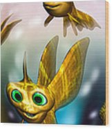Three Little Fishies And A Mama Fishie Too Wood Print by Bob Orsillo