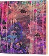 Three Ships Wood Print by Rachel Christine Nowicki
