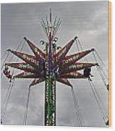 Thrill Tower Wood Print by Skip Willits