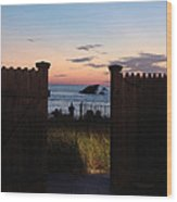Through The Gate Wood Print by Brenda Conrad
