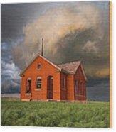 Thunderous Plains Wood Print by Jill Van Doren Rolo