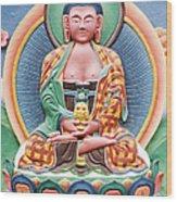 Tibetan Buddhist Deity Sculpture Wood Print by Tim Gainey