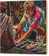 Tie Dye Guy Wood Print by Bob Orsillo