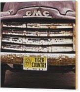 Tiger Country - Purple And Old Wood Print by Scott Pellegrin