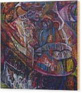 Tikor Woman Wood Print by Peggy  Blood