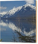Time For Reflection Wood Print by Fran Riley