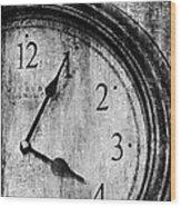 Time Wood Print by Sheena Pike
