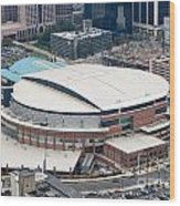 Time Warner Cable Arena Wood Print by Bill Cobb