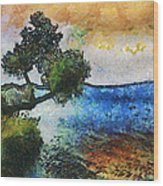 Time Well Spent - Medina Lake Wood Print by Wendy J St Christopher