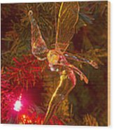 Tinker Bell Christmas Tree Landing Wood Print by James BO  Insogna