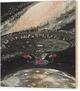 To Boldly Go... Wood Print by Tim Loughner